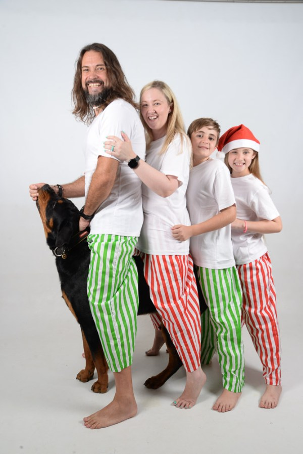 Green, Red and White Stripes Jammies 3