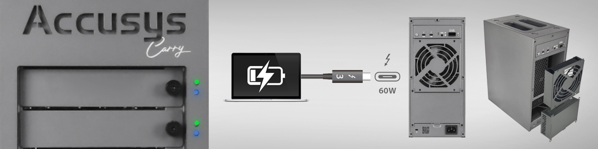 Accusys Carry: Intel Thunderbolt Certified Portable Thunderbolt 3 Storage | 1SourceVideo