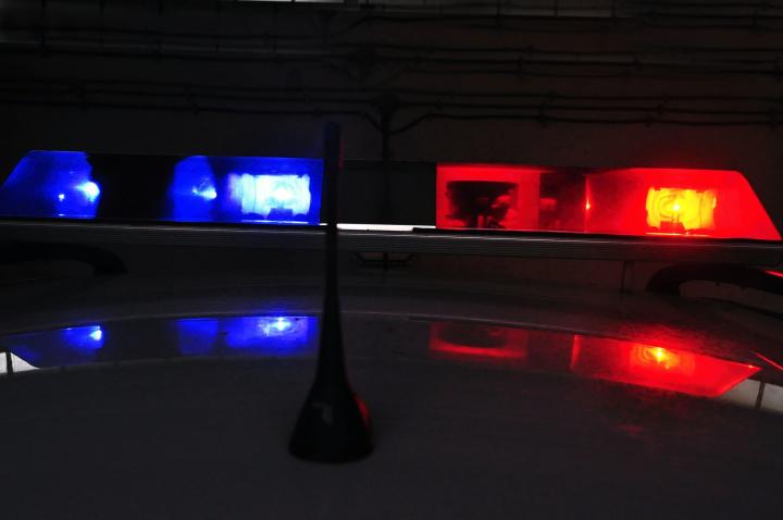 Két rendőrautó üközött össze