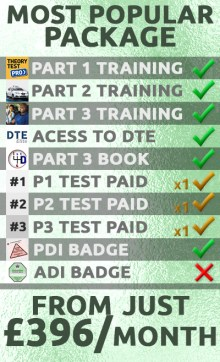 driving instructor training package popular