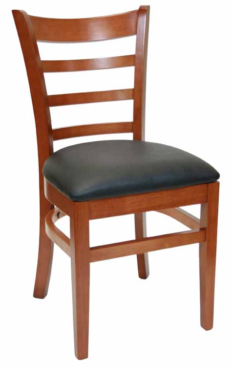 cheap wood chairs portable folding chair restaurant stack cushion banquet ladderback walnut w black vinyl seat sku wc 034