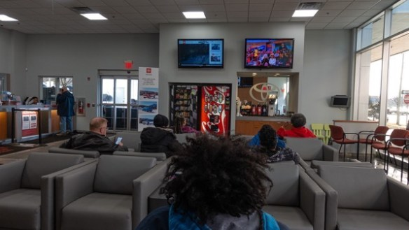 Toyota dealer waiting room