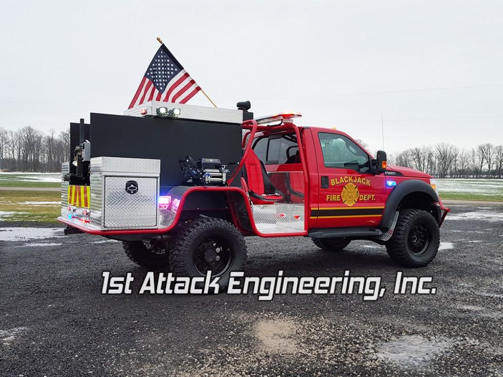 Blackjack Volunteer Fire Department Truck- passenger side view