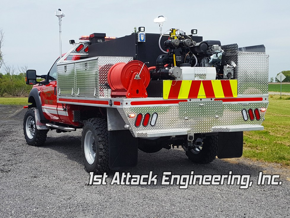 Wheatfield Fire Department Rear driver angle