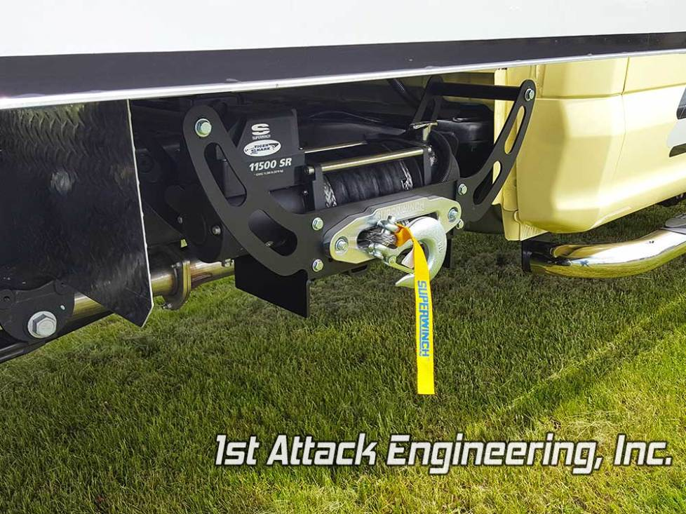 winch carrier under truck bed