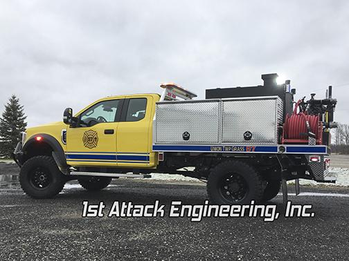 Aluminum Flatbed Brush Truck Driver Side