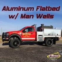 Aluminum Flatbed with Man Wells Nixon Fire Department