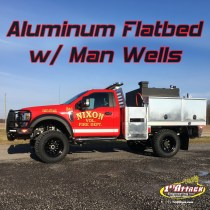 Aluminum Flatbed with Man Wells Nixon Fire Department