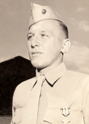 Ed DuBeck wears his Silver Star with pride at Camp Maui, 1945.