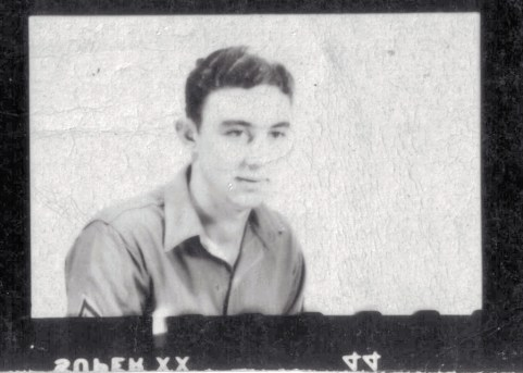 PFC George Smith, location unknown. 1944.
