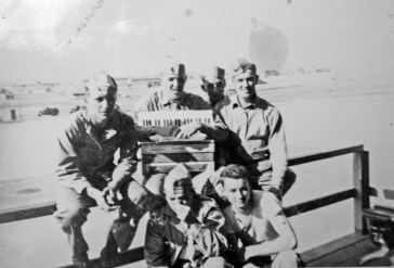 David Spohn, Harold Fritz, Ronald Palmer, George Hall and Donald Hart.