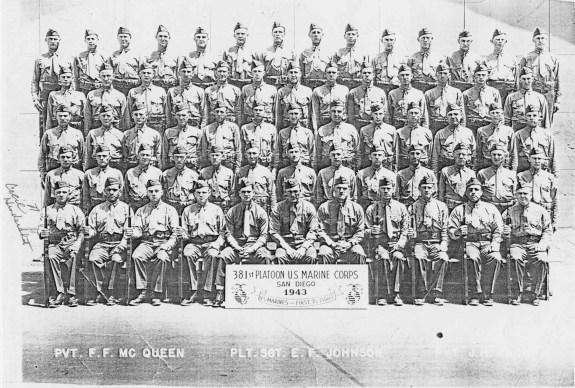 Hendershot's platoon graduates from boot camp.