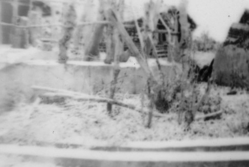 Where these structures were, and their significance to the photographer, were sadly not recorded.