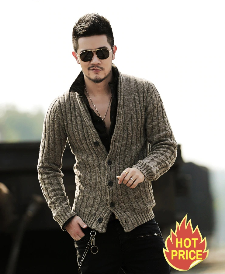 Long Sleeve Cardigan Men's Sweater Jacket