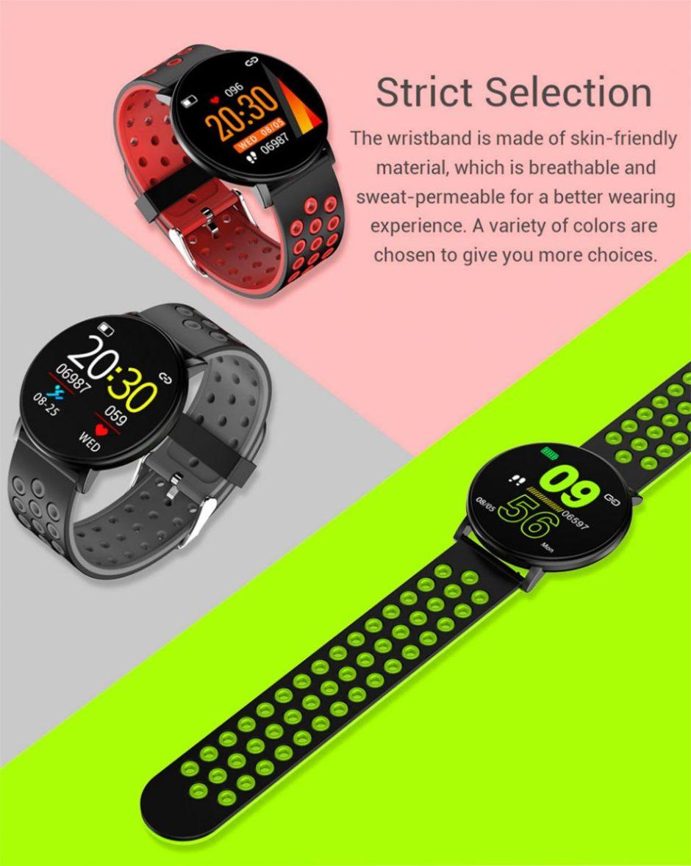 Smart Fitness Bracelet Blood Pressure Measurement Fitness Tracker Waterproof IP67 Smart Band Watch Heart Rate Monitor Pedometer