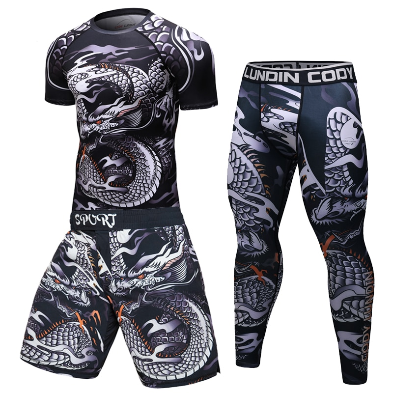 male Sport Suit Men running clothes Sport Wear Yoga Set ropa fitness hombre Suits Sportswear Running Leggings Jogging men's Set