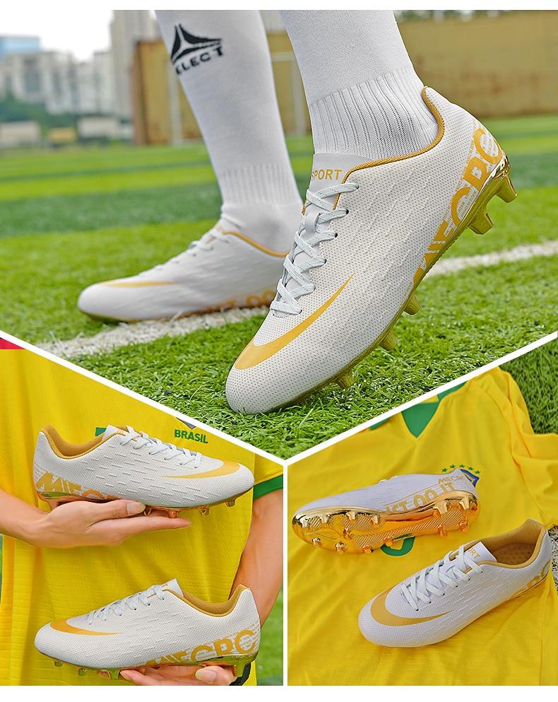 Gold Bottom Men's Sport Soccer Shoes