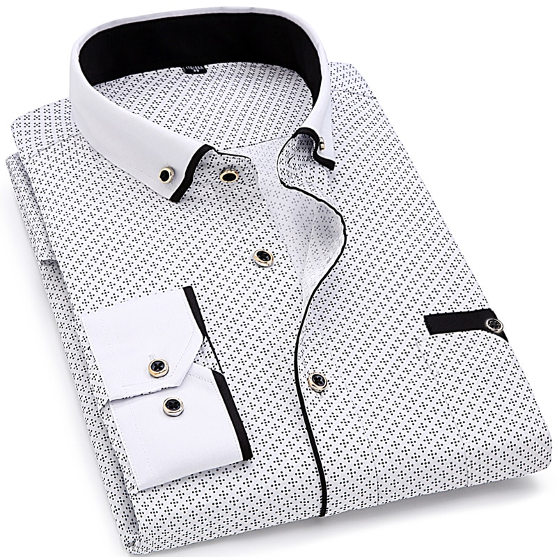 Fashion Casual Patterned Men's Shirt