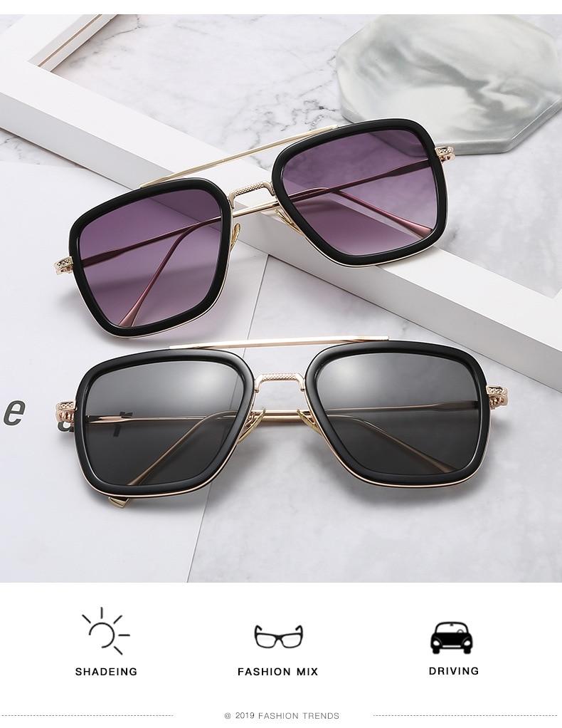 Men's Fashion Style Gradient Design Sunglasses