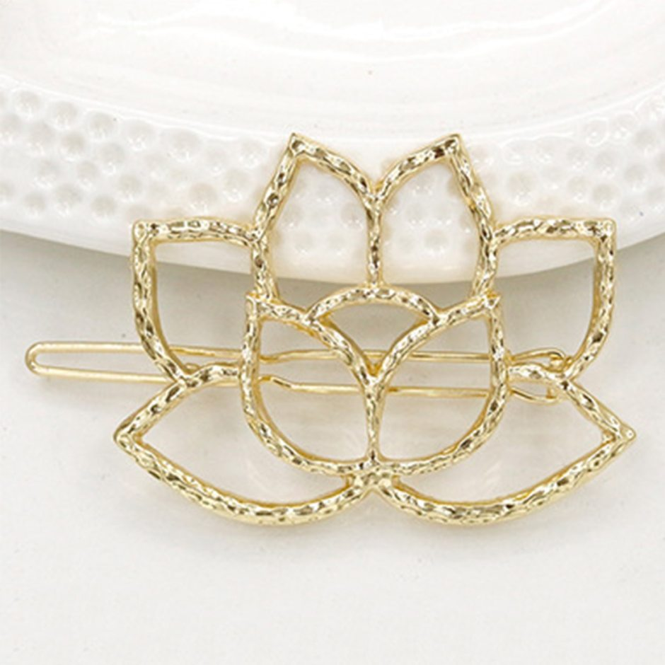 Silver Plated Simple&Elegant Women's Fashion Hair Pins Lotus Retro Styling Hairpin Hair Clips Head-dress Flower Accessories