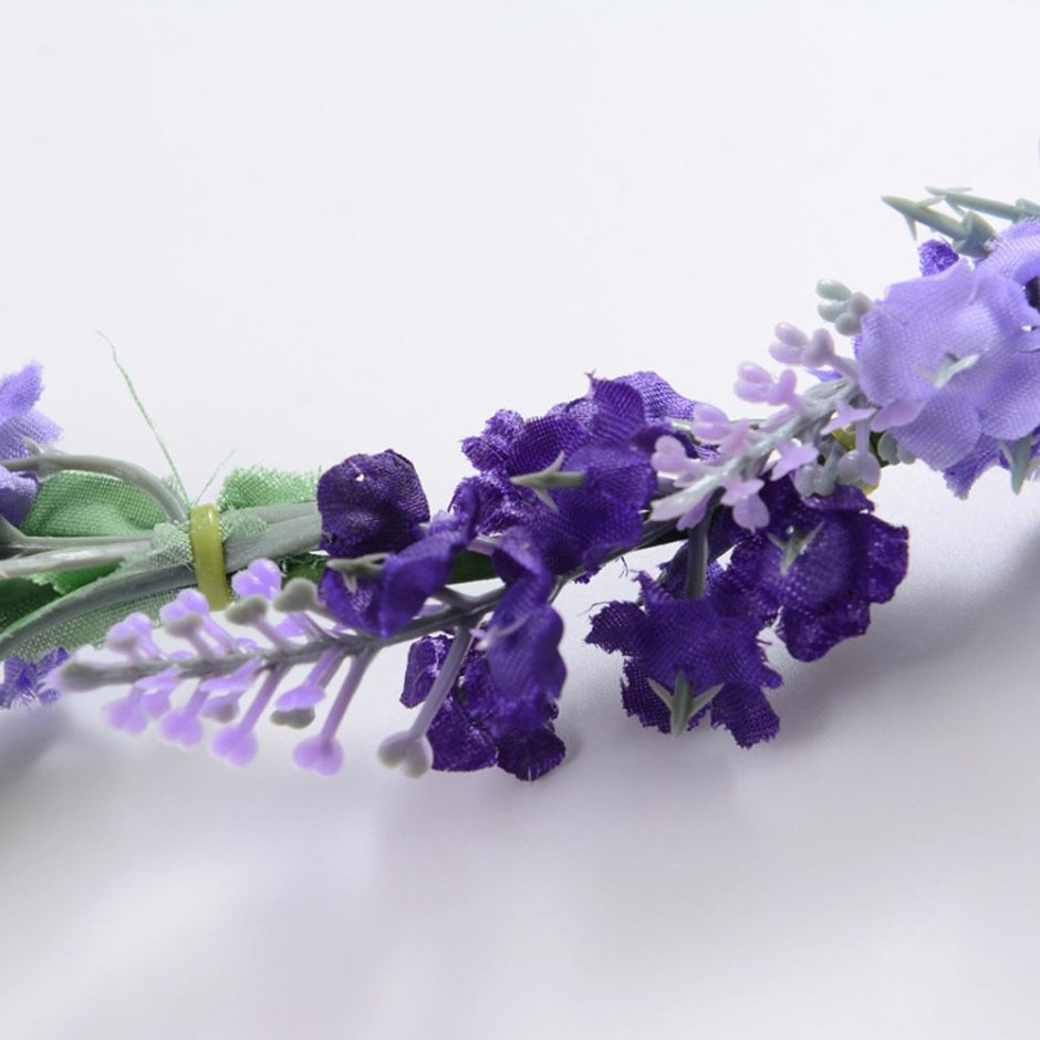 New women's Lavender Garlands Hair accessories for women hoop bow Hair Elastic bands rim on the head Flower crown B1