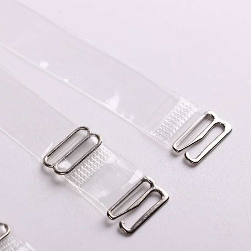 3Pairs=6Pcs Metal Buckle Bra Straps Belt Women's Elastic Transparent Silicone Adjustable Invisible Intimates Women Accessories