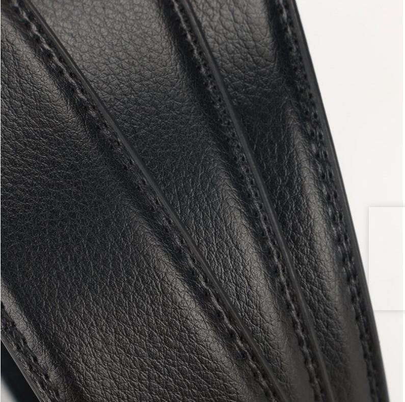 Genuine Men's Belt Head Buckle Leisure Belt Head Business Accessories Automatic Buckle Width luxury fashion holographic belts