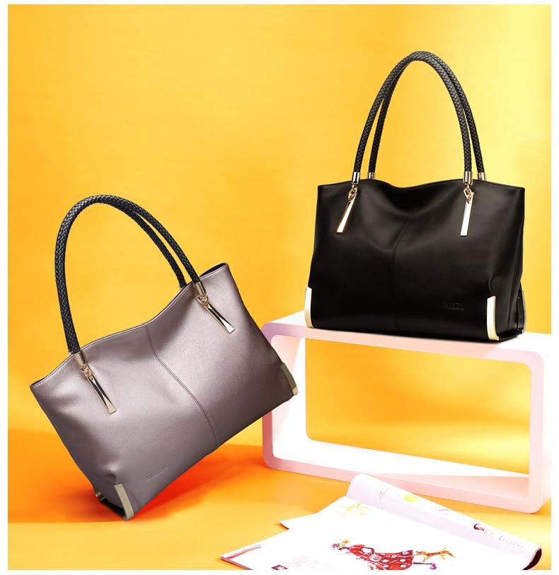 FOXER Brand Women's Cow Leather Handbags Female Shoulder bag designer Luxury Lady Tote Large Capacity Zipper Handbag for Women