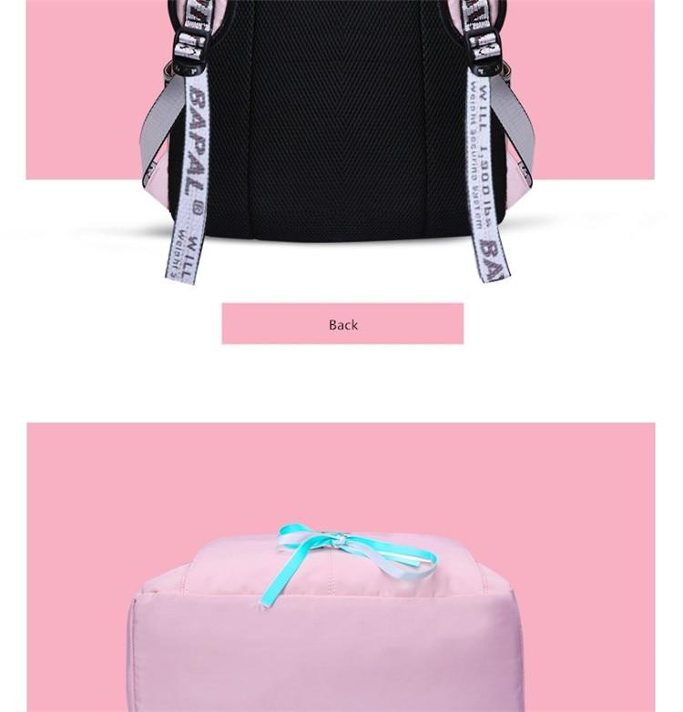 FengDong kids school backpack for girls school bags women shoulder bag fur ball bowknot backpacks for teenage girls dropshipping