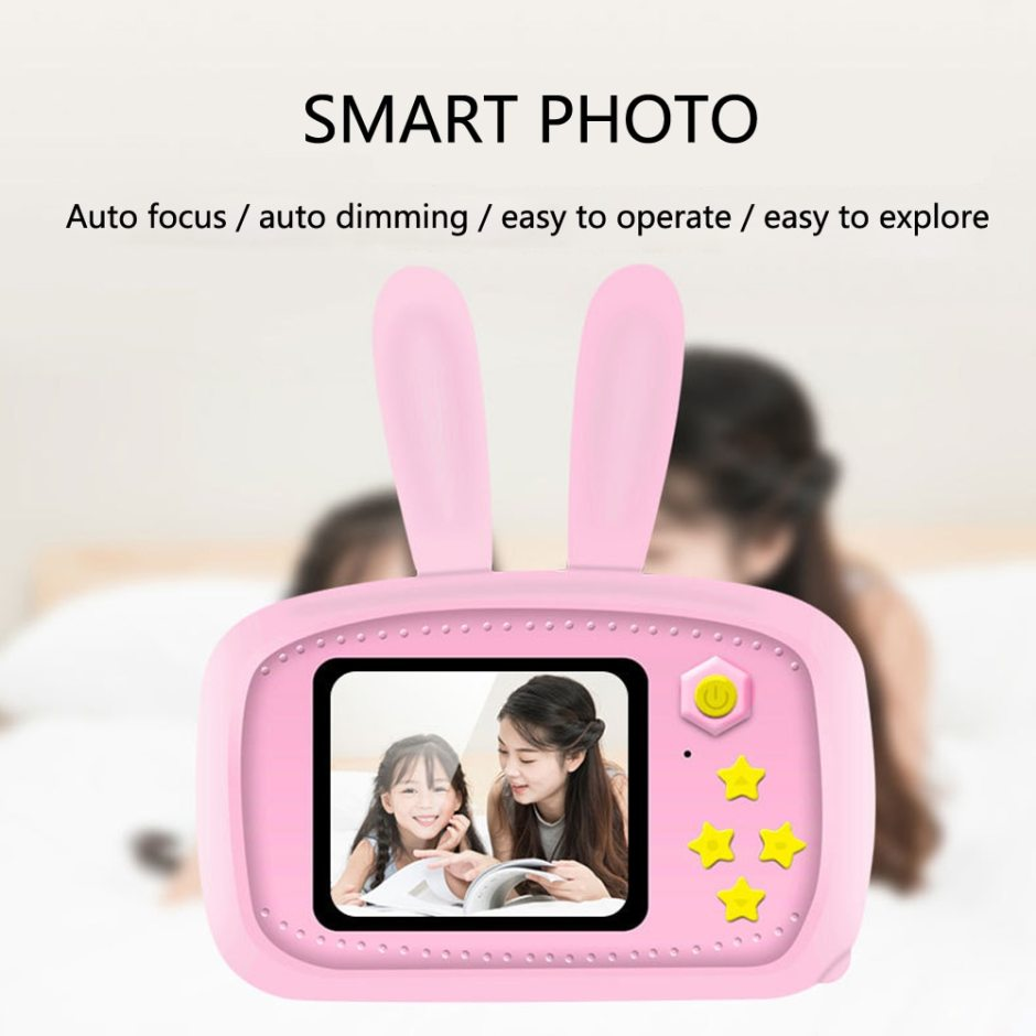 Mini Digital Camera Toys for Kids 2 Inch HD Screen Chargable Photography Props Cute Baby Child Birthday Gift Outdoor Game