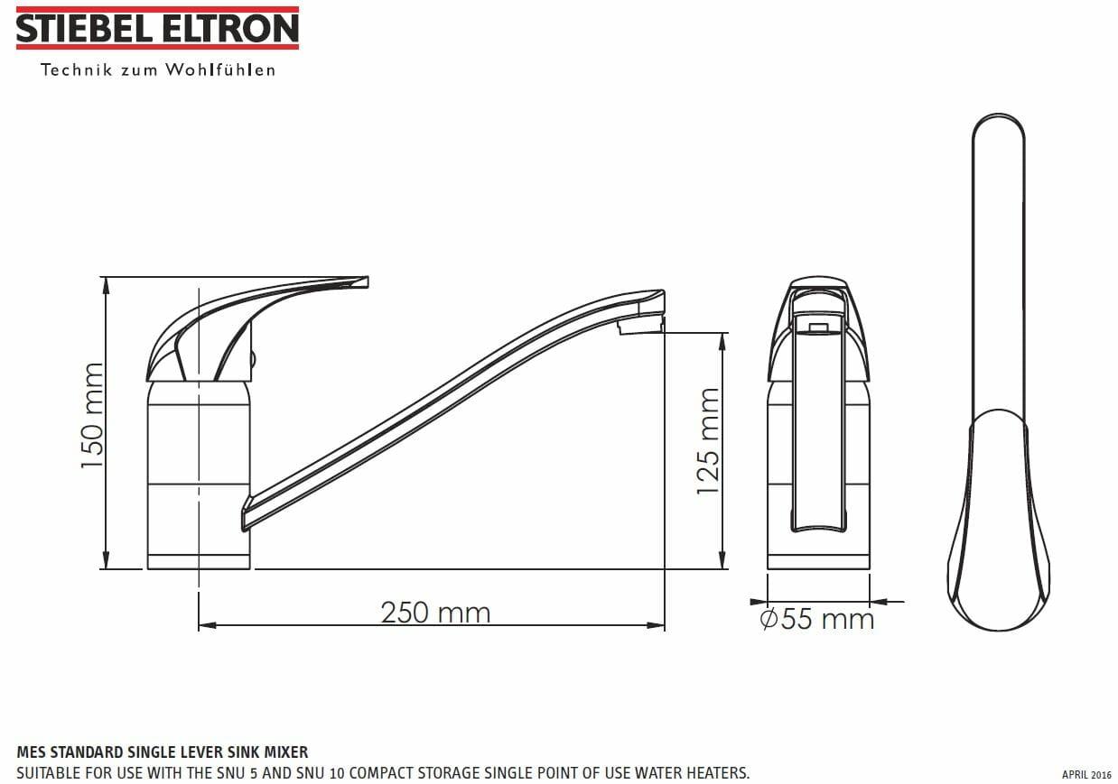Stiebel Eltron Snu5s Mes 5 Litre Heater Amp Mixer
