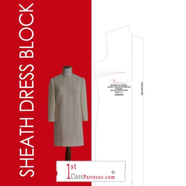 Digital sheath dress block pattern