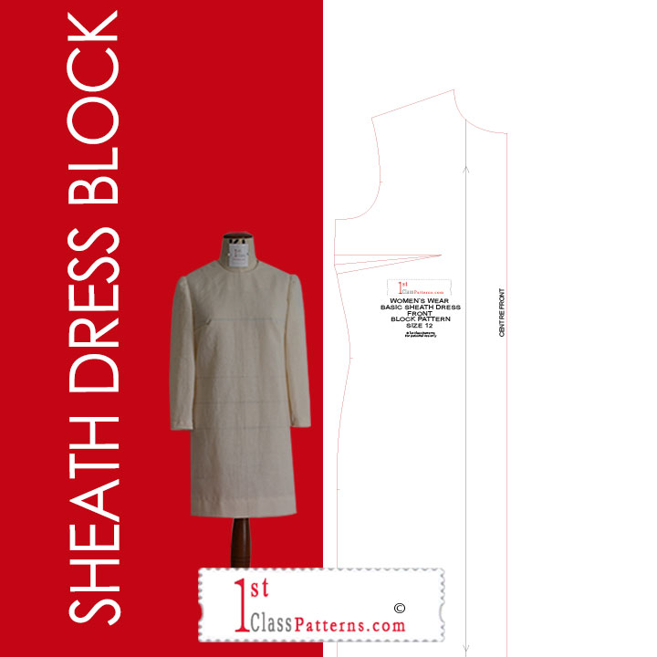 sheath dress digital block pattern