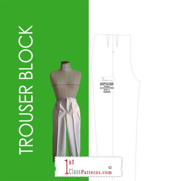 Digital trouser block pattern