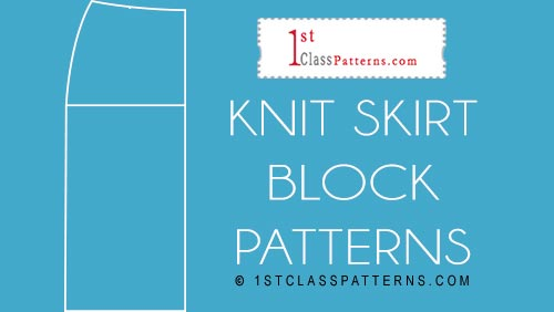 new block pattern knits skirt