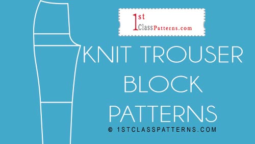 new block pattern knits trousers