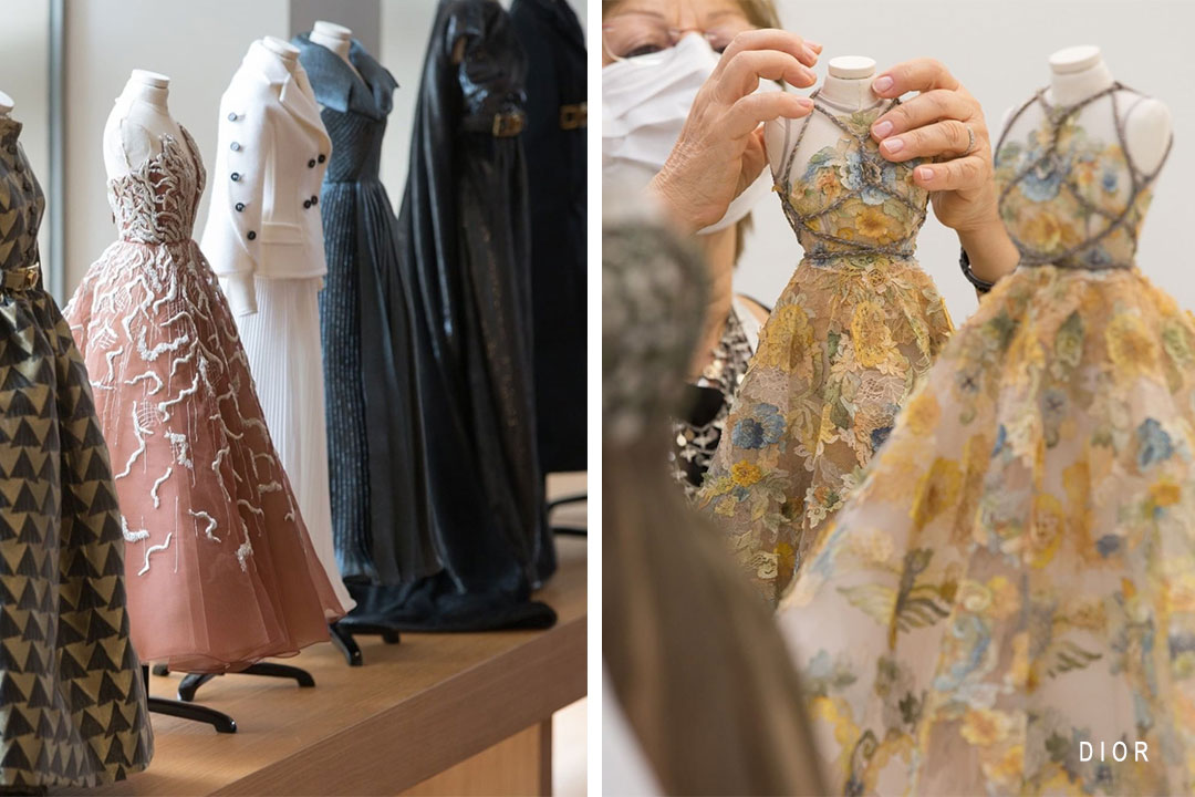 Miniature scale dresses for the haute couture coll copyection