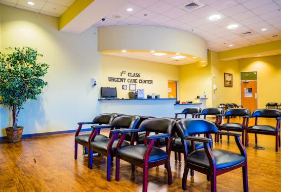 1stclass Urgent Care Allen Office lobby2