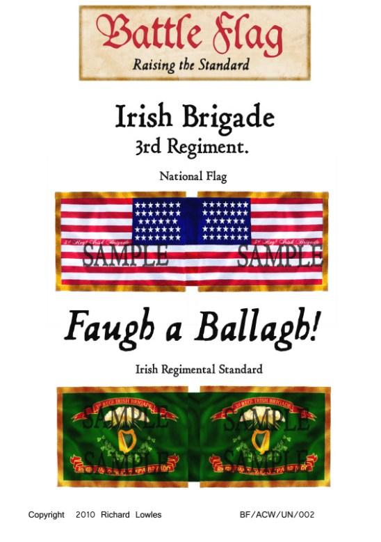 ACW/UN/002 Irish Brigade. 3rd Regiment