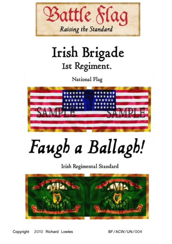 ACW/UN/001 Irish Brigade. 1st Regiment