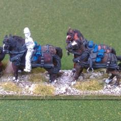 Limber and horse team (kepi, mtd)