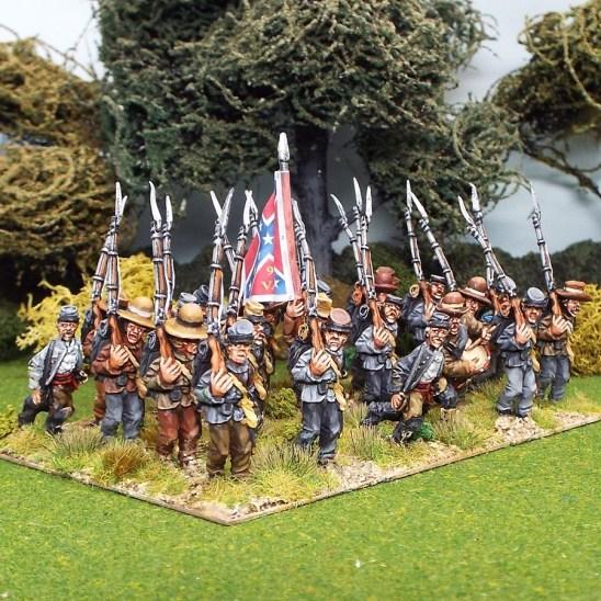 28mm american civil war marching mixed headgear