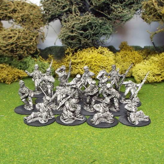 28mm Amercican Civil War ACW casualties wering kepi