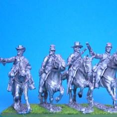 Cavalry troopers, shotgun/musket