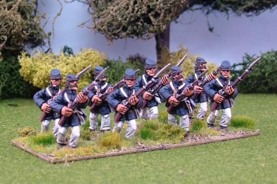 28mm american civil war Marines Advancing