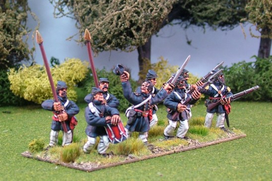 28mm american civil war Marines Advancing including Command