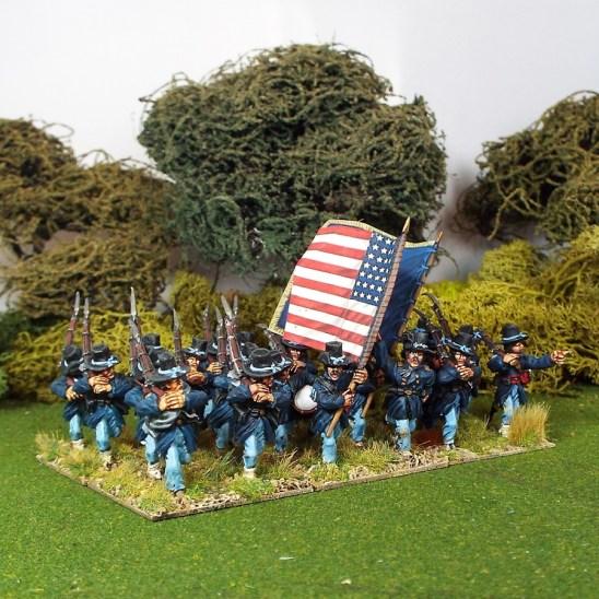 28mm american civil acw Iron brigade. Right Shoulder Shift