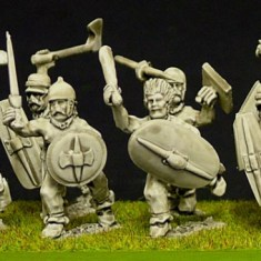 Celt or Gallic Trousered warriors (b) with mixed weapons
