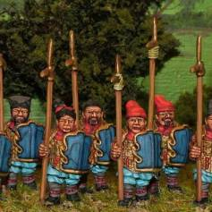 CH15 Armoured spearmen with shields.
