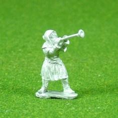 Trumpeteer on foot.